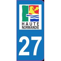 Sticker immatriculation 27 - Eure