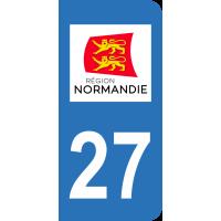 Sticker Immatriculation 27 - Eure - 2
