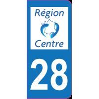 Sticker immatriculation 28 - Eure-et-Loir