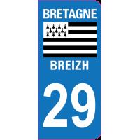 Sticker immatriculation 29 - Finistère
