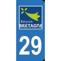 Sticker Immatriculation 29 - Finistère - 2