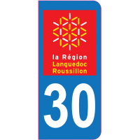 Sticker immatriculation 30 - Gard