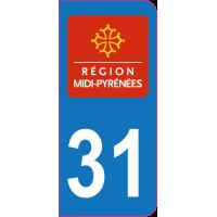 Sticker immatriculation 31 - Haute-Garonne