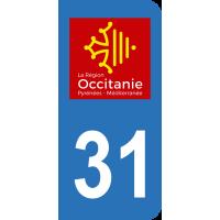 Sticker Immatriculation 31 - Haute-garonne - 2