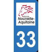 Sticker Immatriculation 33 - Gironde - 2