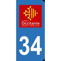 Sticker Immatriculation 34 - Hérault - 2