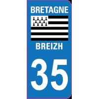 Sticker immatriculation 35 - Ille-et-Vilaine