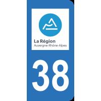 Sticker Immatriculation 38 - Isère - 2