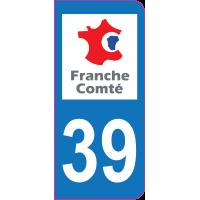 Sticker immatriculation 39 - Jura