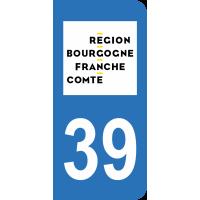 Sticker Immatriculation 39 - Jura - 2