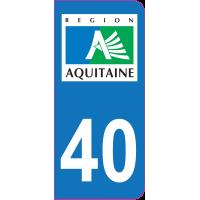 Sticker immatriculation 40 - Landes