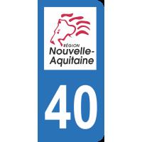 Sticker Immatriculation 40 - Landes - 2