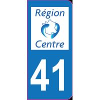 Sticker immatriculation 41 - Loir-et-Cher