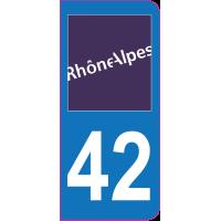 Sticker immatriculation 42 - Loire