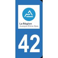 Sticker Immatriculation 42 - Loire - 2