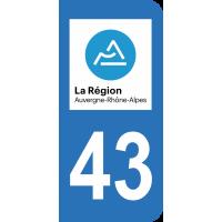 Sticker Immatriculation 43 - Haute-loire - 2