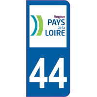 Sticker immatriculation 44 - Loire-Atlantique