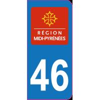Sticker immatriculation 46 - Lot