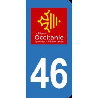 Sticker Immatriculation 46 - Lot - 2