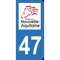 Sticker Immatriculation 47 - Lot-et-garonne - 2
