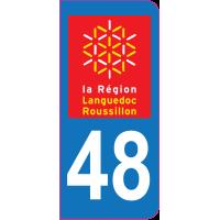 Sticker immatriculation 48 - Lozère