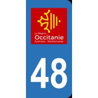 Sticker Immatriculation 48 - Lozère - 2