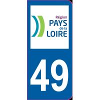 Sticker immatriculation 49 - Maine-et-Loire