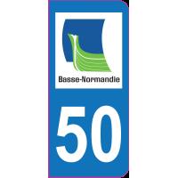 Sticker immatriculation 50 - Manche