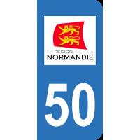 Sticker Immatriculation 50 - Manche - 2