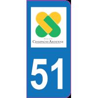 Sticker immatriculation 51 - Marne