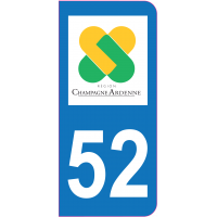 Sticker immatriculation 52 - Haute-Marne