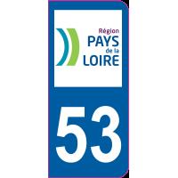 Sticker immatriculation 53 - Mayenne