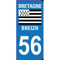 Sticker immatriculation 56 - Morbihan