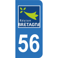 Sticker Immatriculation 56 - Morbihan - 2