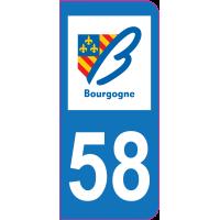 Sticker immatriculation 58 - Nièvre
