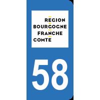 Sticker Immatriculation 58 - Nièvre - 2