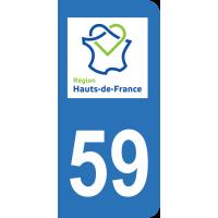 Sticker Immatriculation 59 - Nord - 2