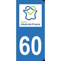 Sticker Immatriculation 60 - Oise - 2