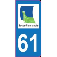 Sticker immatriculation 61 - Orne