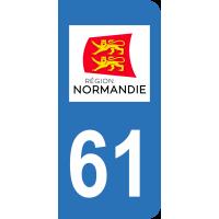 Sticker Immatriculation 61 - Orne - 2