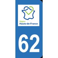 Sticker Immatriculation 62 - Pas-de-calais - 2