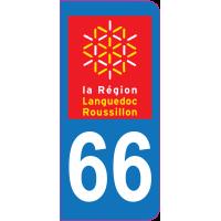 Sticker immatriculation 66 - Pyrénées-Orientales