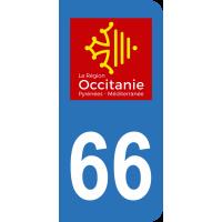Sticker Immatriculation 66 - Pyrénées-orientales - 2