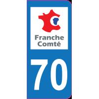 Sticker immatriculation 70 - Haute-Saône