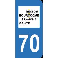 Sticker Immatriculation 70 - Haute-saône - 2