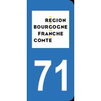 Sticker Immatriculation 71 - Saône-et-loire - 2