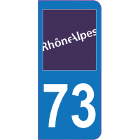 Sticker immatriculation 73 - Savoie