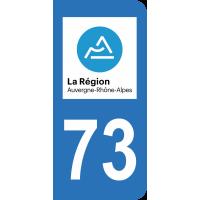 Sticker Immatriculation 73 - Savoie - 2