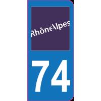 Sticker immatriculation 74 - Haute-Savoie