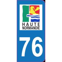 Sticker immatriculation 76 - Seine-Maritime